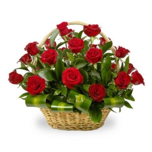 160478 Корзина Классика: букеты цветов на заказ Flowwow