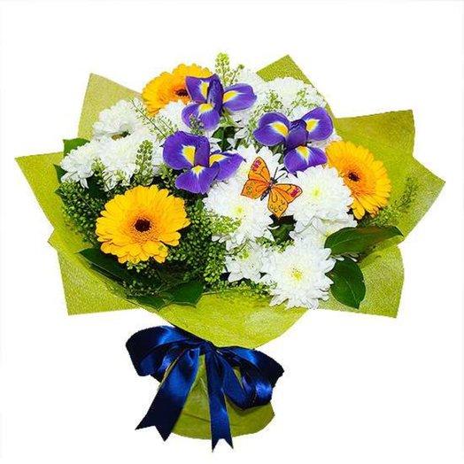 Сборный букет Бабочка: букеты цветов на заказ Flowwow