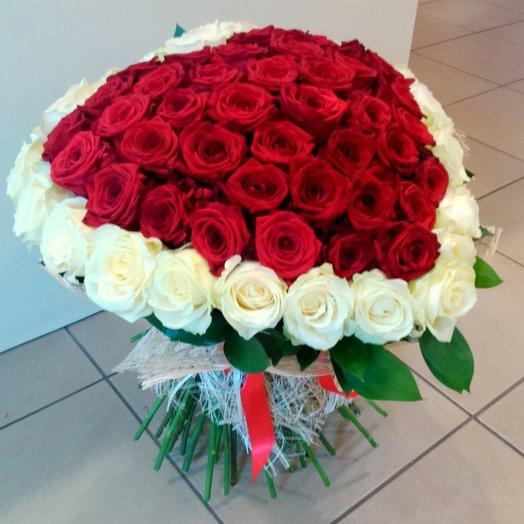 Букет из роз сердце
