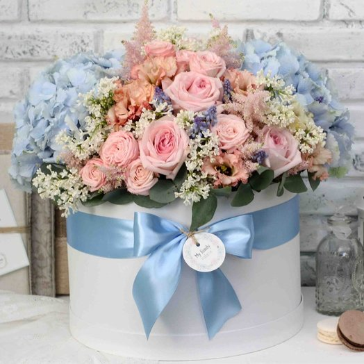 Цветы в коробке XL (40 см) 0572: букеты цветов на заказ Flowwow