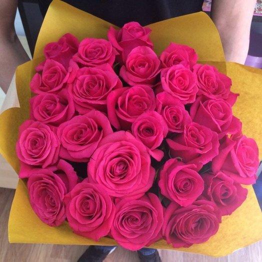 Букет Малиновое облако (Розы 25 шт): букеты цветов на заказ Flowwow