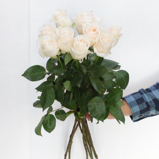 Букет 9 белых роз: букеты цветов на заказ Flowwow