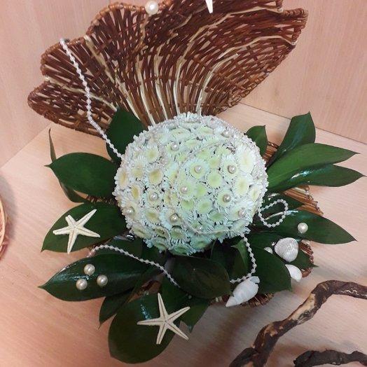 Жемчужина из живых цветов: букеты цветов на заказ Flowwow