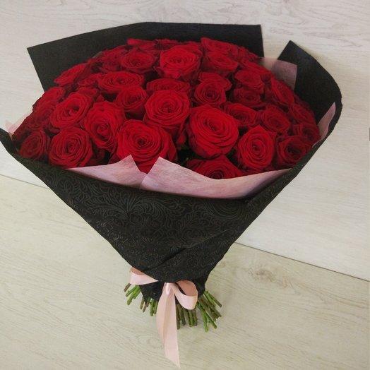 51 красная роза в букете: букеты цветов на заказ Flowwow