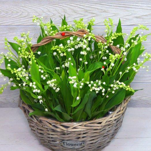 Ландыши в лукошке: букеты цветов на заказ Flowwow