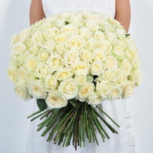101 white rose: flowers to order Flowwow