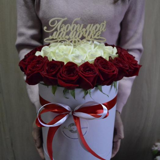 Мама моя единственная(Топпер в подарок): букеты цветов на заказ Flowwow
