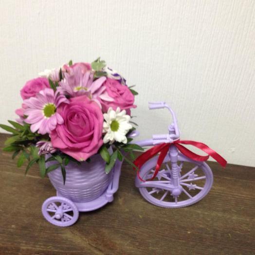 Велосипед красоты: букеты цветов на заказ Flowwow