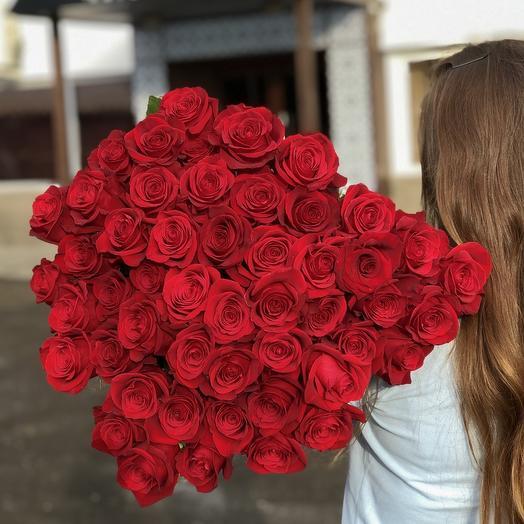 51 премиальная роза: букеты цветов на заказ Flowwow