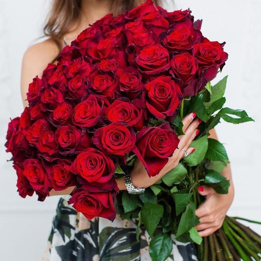 51 шикарная роза 60 см