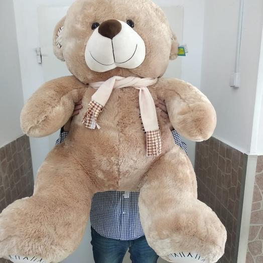 Большая игрушка медведь в шарфе: букеты цветов на заказ Flowwow