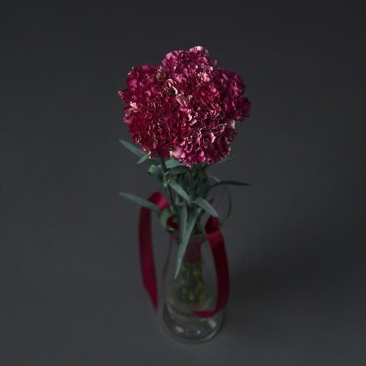 """Букет """"5 Фиолетовых Гвоздик"""": букеты цветов на заказ Flowwow"""