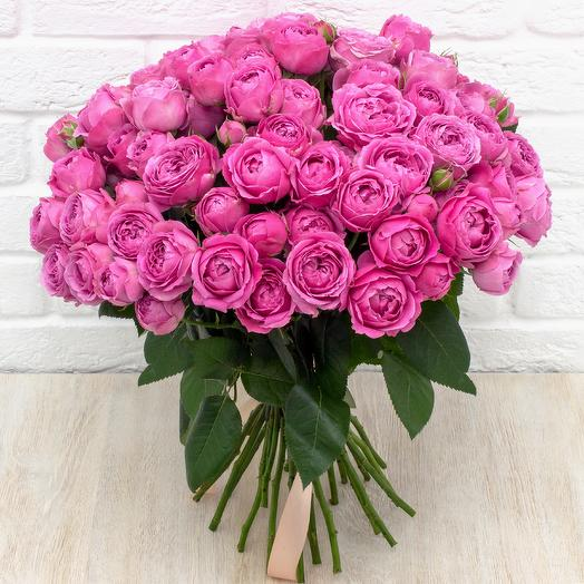 """25 пионовидных роз """"Мисти баблс"""""""