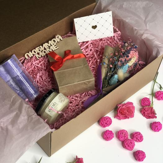 Подарочная коробочка (топпер можно заменить): букеты цветов на заказ Flowwow