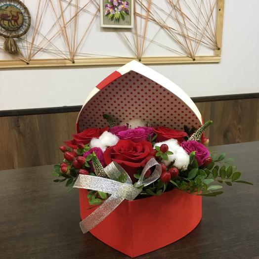 Композиция «Чистое сердце»: букеты цветов на заказ Flowwow