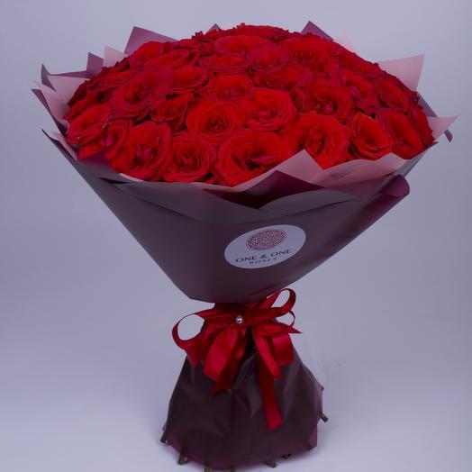 51 элитная роза сорта Нина: букеты цветов на заказ Flowwow