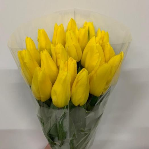 Желтые тюльпаны в ассортименте