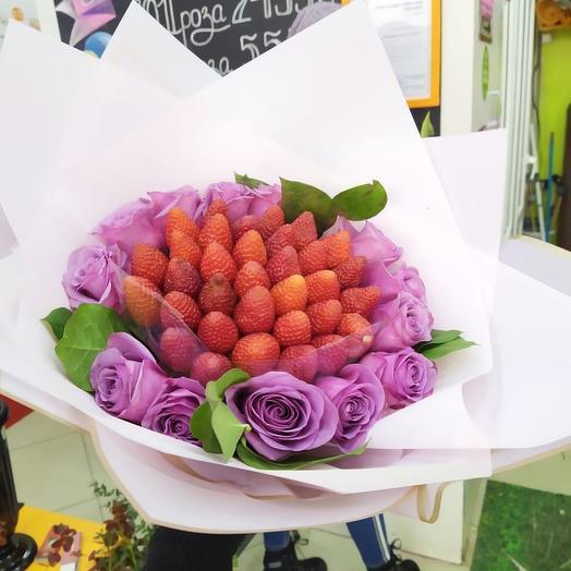 Клубниничный: букеты цветов на заказ Flowwow