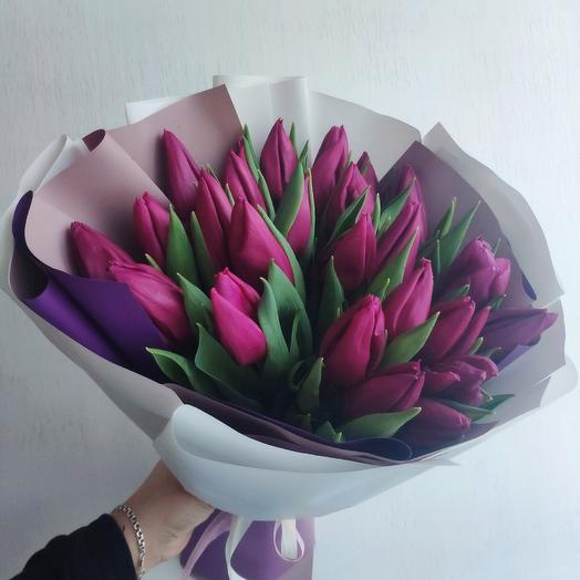 25 тюльпанов для Любимой 💕: букеты цветов на заказ Flowwow