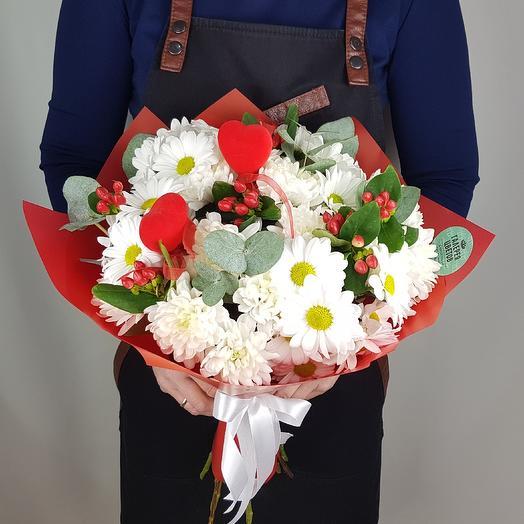 Любовь и ромашки: букеты цветов на заказ Flowwow
