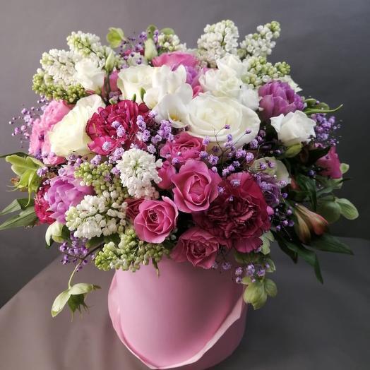 Корзина из сирени: букеты цветов на заказ Flowwow