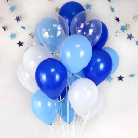19 helium balloons
