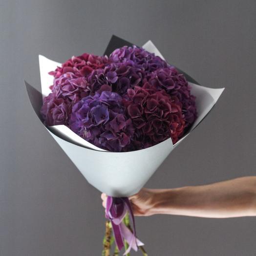 PREMIUM букет из 7 фиолетовых гортензий: букеты цветов на заказ Flowwow