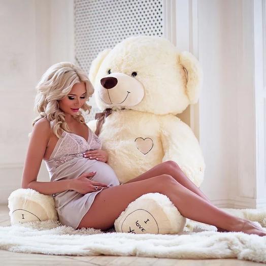 Большой Медведь Максик 180 см (молочный)