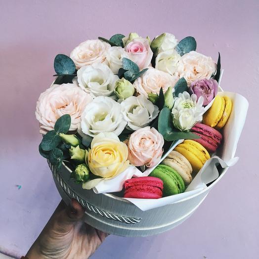 """Букетно-конфетная коробка """"Любовь"""""""