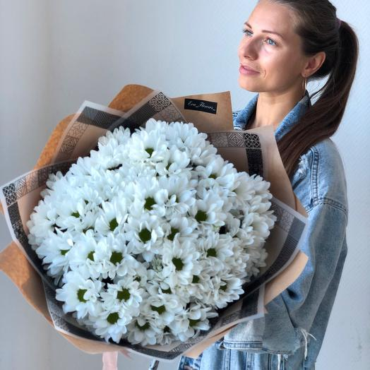 Chamomile bouquet of chrysanthemums