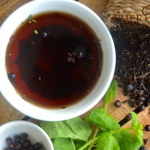 Таежный чай с можжевельником и пуэром