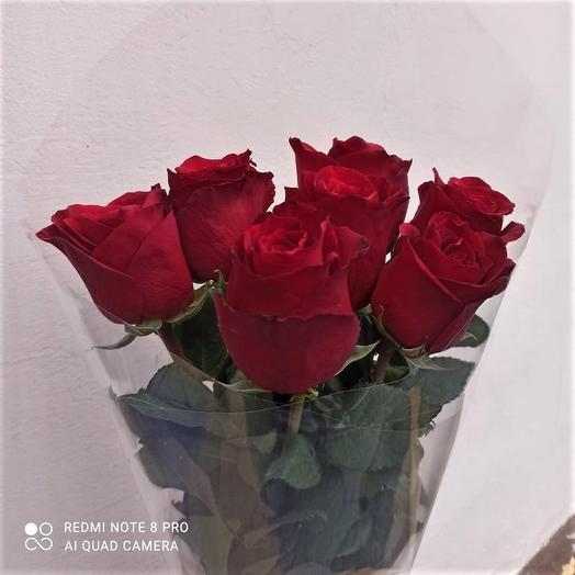 Букет 7 красных роз Эквадор
