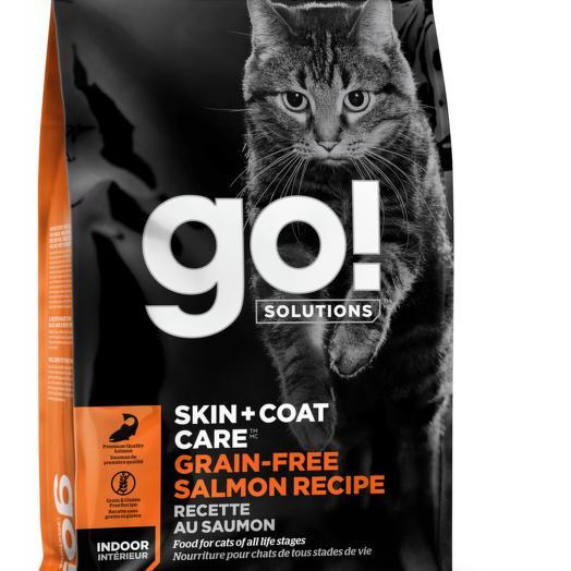 GO! Skin+Coat Care беззерновой корм для котят и кошек с лососем, для кожи и шерсти 7,26 кг