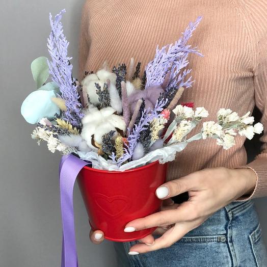 Ведёрко с сухоцветами