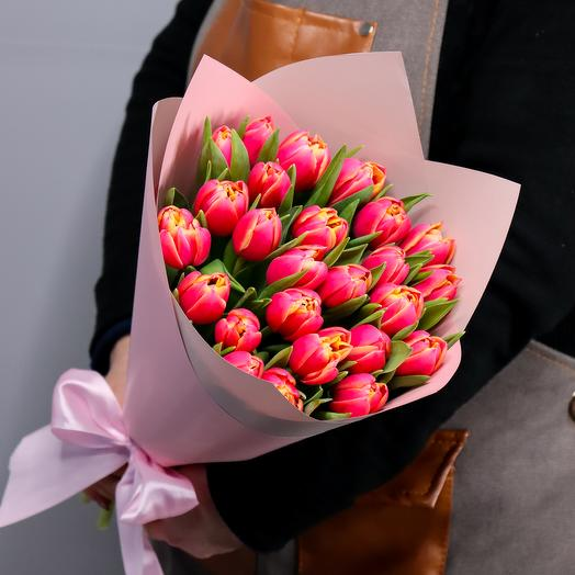 Букет из 25 тюльпанов Каламбус