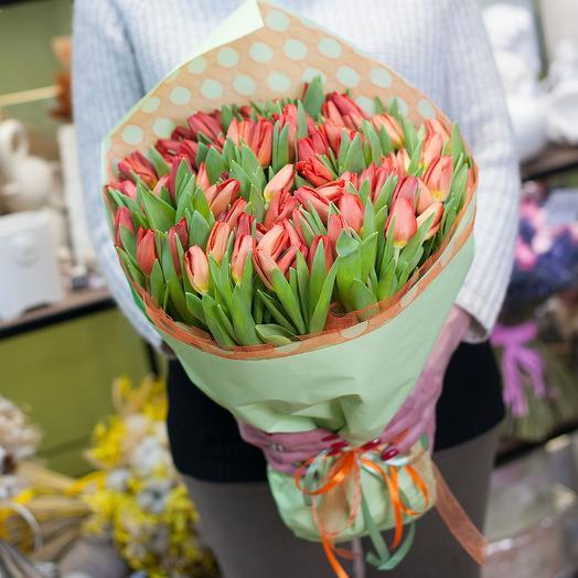 """Букет тюльпанов """"Весна красна"""""""