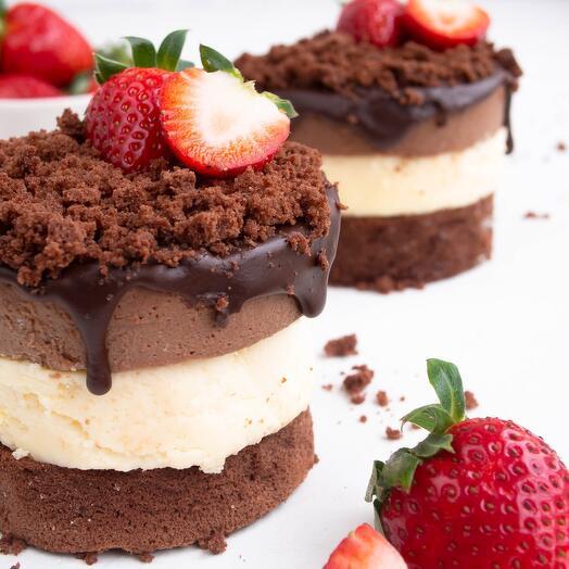 Муссовый чизкейк три шоколада