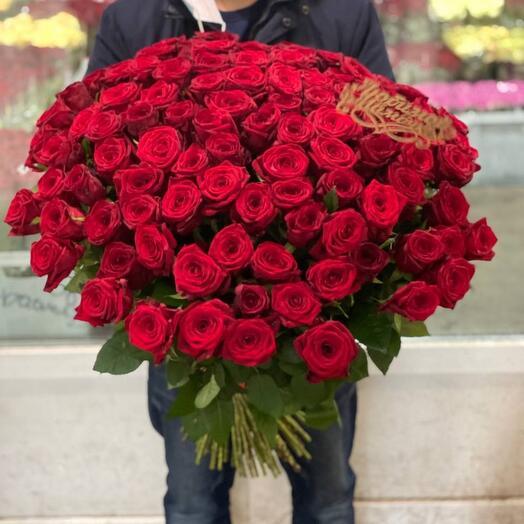 Букет из 101 красных роз