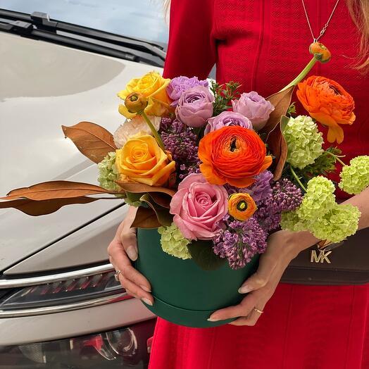 Летние Цветы в коробке
