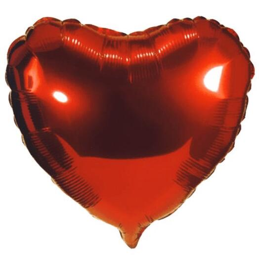 Шар фольга сердце красное