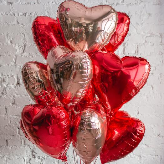 """A bunch of balloons """"Heart attack"""""""