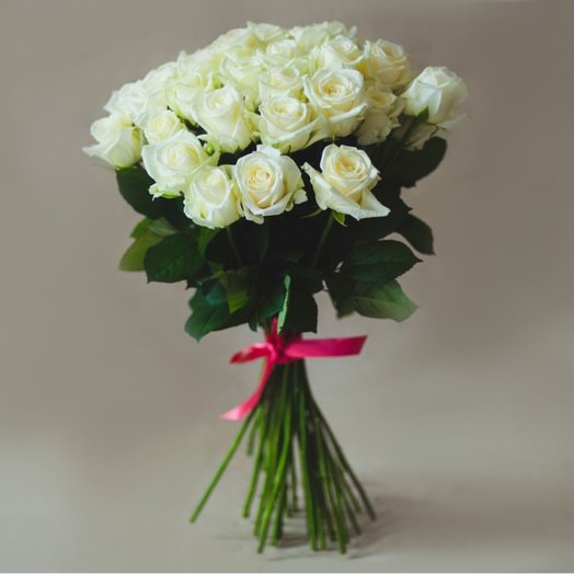 45 white roses: flowers to order Flowwow