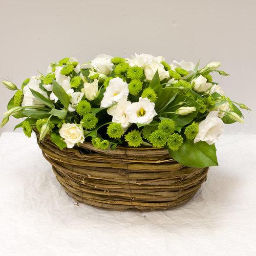 Корзина цветов Bianco: букеты цветов на заказ Flowwow