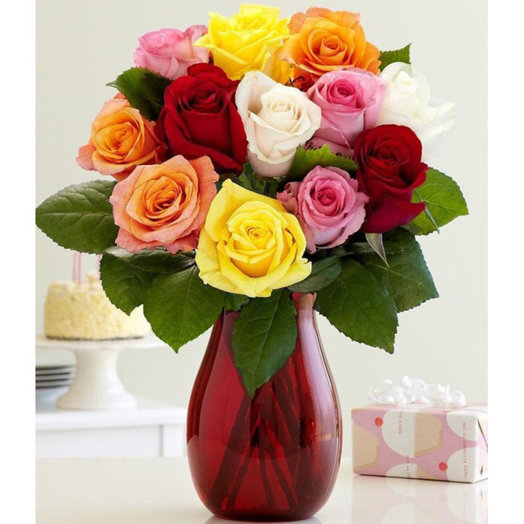 Colorful Bouquet: flowers to order Flowwow