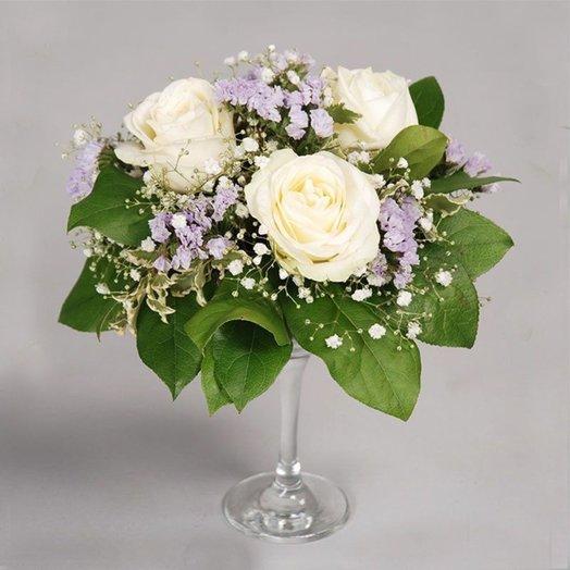 Коктейль из роз: букеты цветов на заказ Flowwow