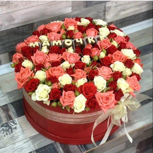 Розы кустовые в коробке: букеты цветов на заказ Flowwow