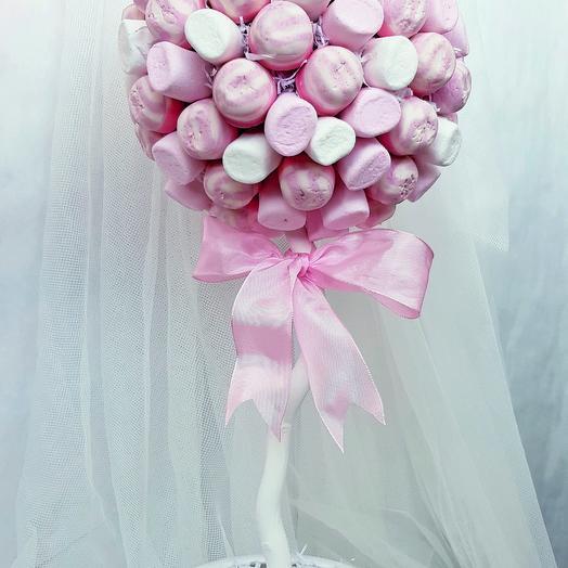 Деревце из конфет и зефира: букеты цветов на заказ Flowwow