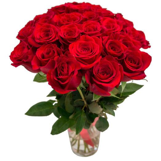 Букет 25 алых роз: букеты цветов на заказ Flowwow