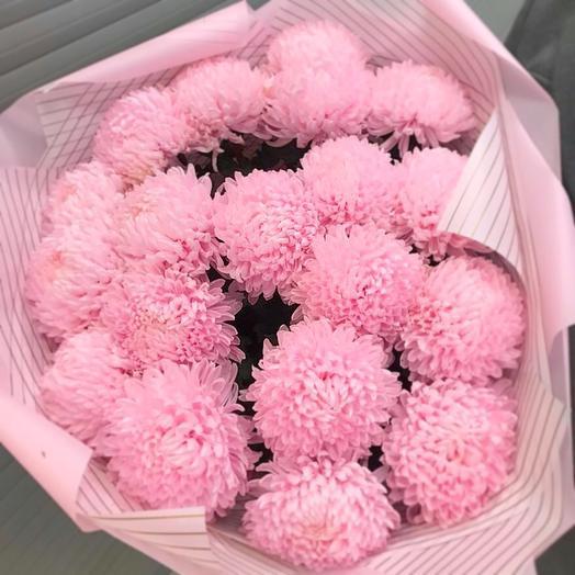 19 воздушных хризантем: букеты цветов на заказ Flowwow