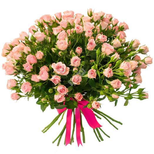 Букет кустовой розы розовой: букеты цветов на заказ Flowwow